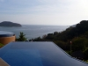 The two infinity pools overlooking Zihuatanejo Bay